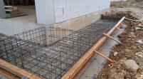 temel betonu, teras parapet betonu döküldü.